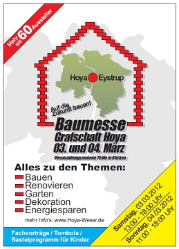 Foto: Baumesse Grafschaft Hoya 2012 - Flyer