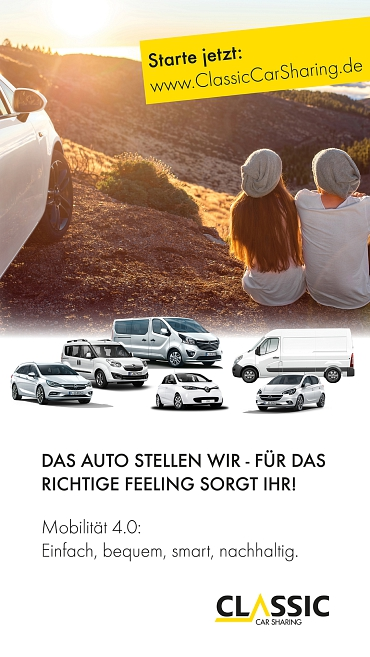 Foto: Classic CarSharing - Anzeige©Classic CarSharing